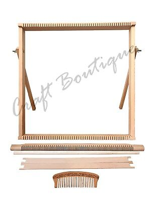 Weaving Loom Kit LARGE With Stand , Wooden Looming Set  | Tapestry Loom - Weaving Kits
