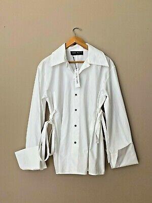 Daniel Pollitt white cotton shirt blouse (Style of Jacquemus Loewe J W Anderson)