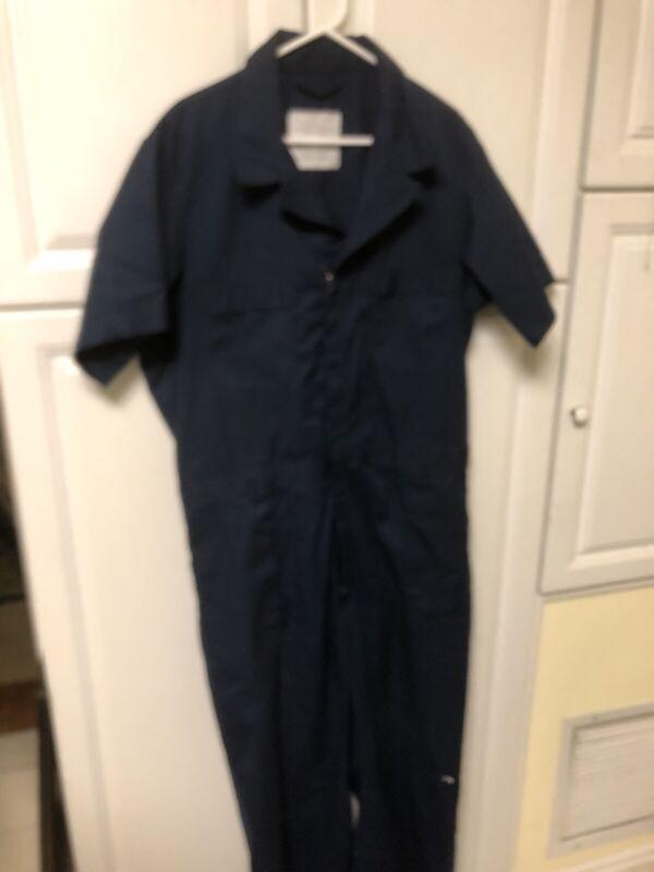 50R US NAVY SAILOR BLUE 50 Regular  50R Jumpsuit COVERALLS Short Sleeve