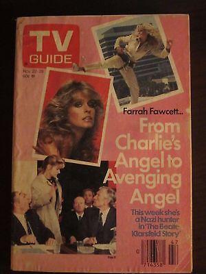 TV Guide November 1986 Farrah Fawcett Charlies Angels No Label