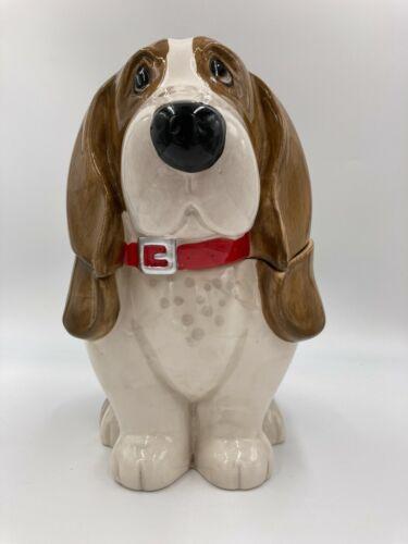 "Pioneer Woman Treat Cookie Jar 11"" Basset Hound Dog Charlie Ceramic"