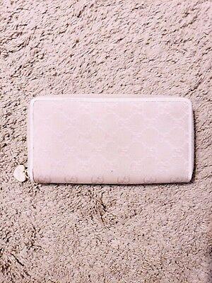 GUCCI Guccissima Monogram Zip Around Fabric Wallet Holder Clutch Organizer Pink