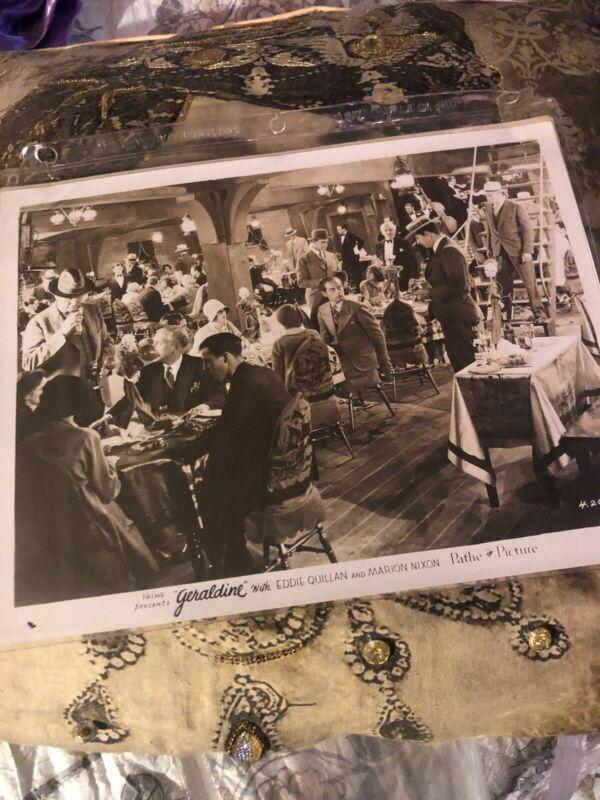 PATHE PRESENTS GERALDINE (1929) Rare Original Photograph G9