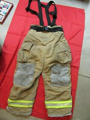 Mfg. 2013 Globe Gxtreme 40 X 32 Firefighter Turnout Bunker Pants Suspenders