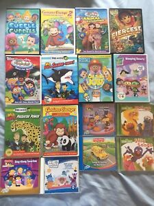 Huge lot of kid's DVDs and CDs – Disney, PBS Kids