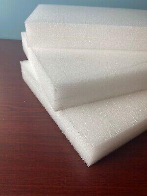 3 Sheets - 24 X 12 X 2 White Polyethylene Plank Foam 1.7pcf Pe