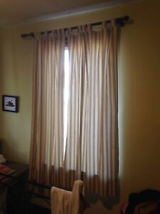 Curtains with rods