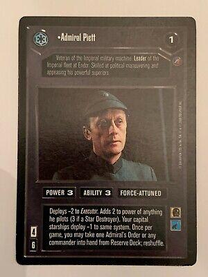 Star Wars CCG SWCCG Admiral Piett Death Star 2 II Card Rare Collection