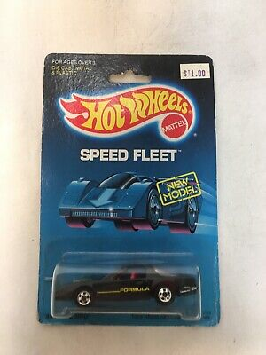 Hot Wheels '80's Firebird Speed Fleet Series #5128 New NRFP 1988 Black 1:64