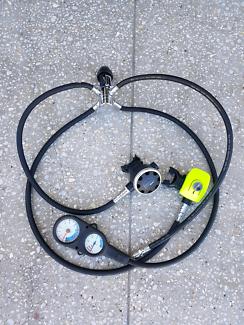 Near new scuba gear. Regulator setup and bcd