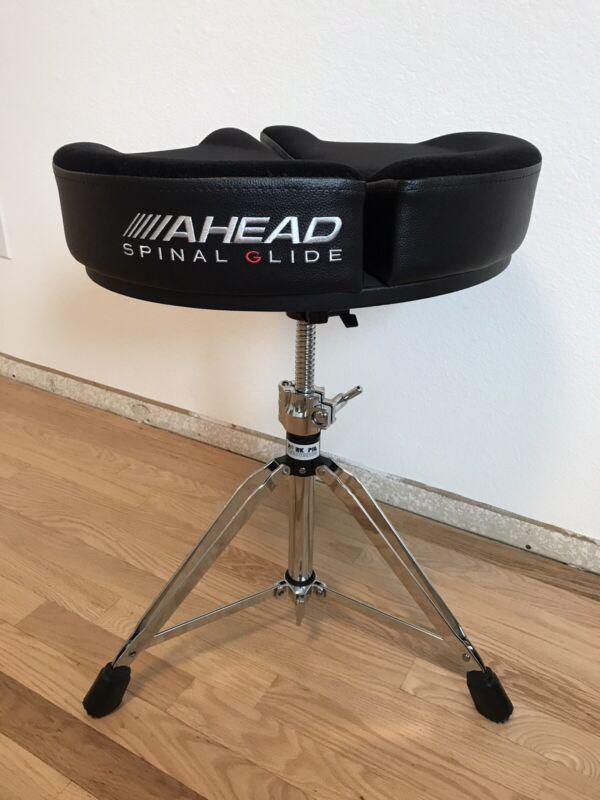 Ahead Spinal-G Drum Throne Seat Black Sparkle with Pork Pie Stool - Unused!