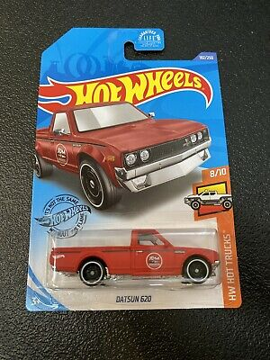 Hot Wheels 2020 Datsun 620 Matte Red Hot Trucks K Case Rare HTF New JDM Legends