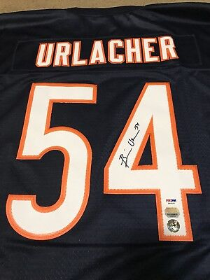 (BRIAN URLACHER autographed Bears Authentic Reebok blue Jersey, Mounted Memories)