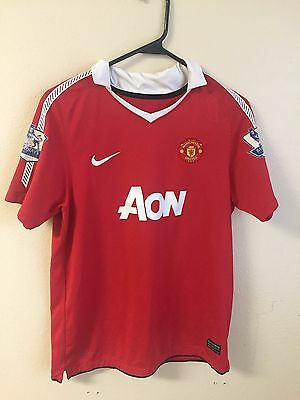 b4ec6c8cb02 MANCHESTER UNITED  10 ROONEY 2010-2011 HOME ORIGINAL NIKE JERSEY SHIRT  Youth XL