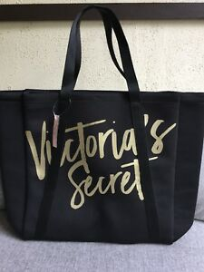 Victoria's Secret black /gold cooler tote bag,new with tag