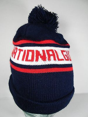 US NATIONAL GUARD RED WHITE BLUE MILITARY ADVERTISING STOCKING SNOW SKI CAP HAT Guard White Hat