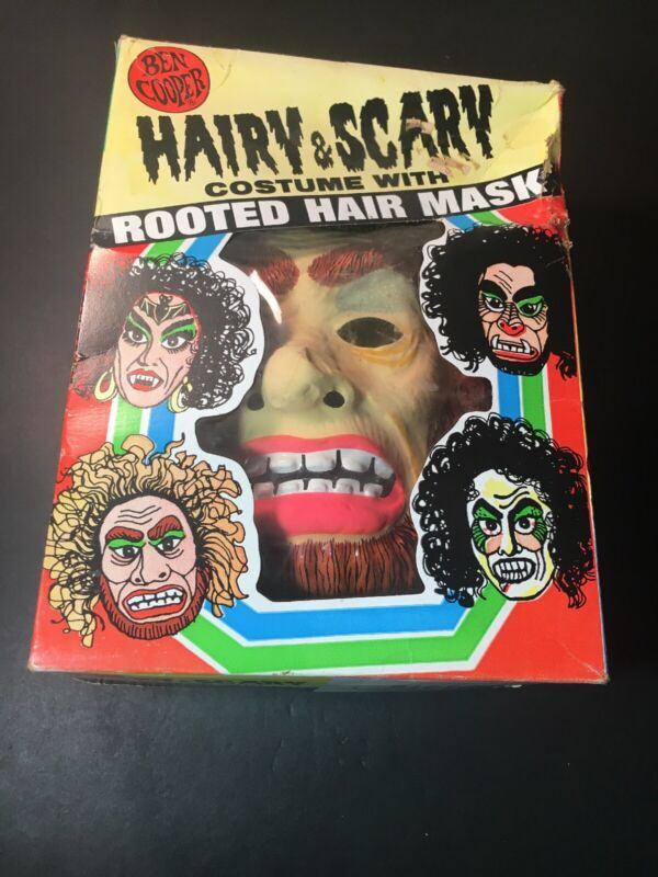 Vintage 1978 Ben Cooper Halloween Mask And Costume - Bigfoot Very Rare