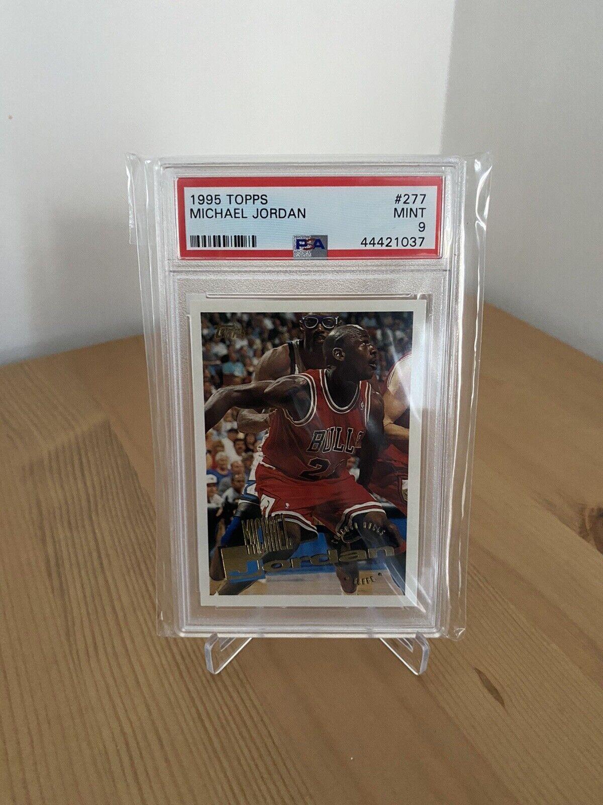 1995-96 topps-michael jordan - #277 chicago bulls psa 9