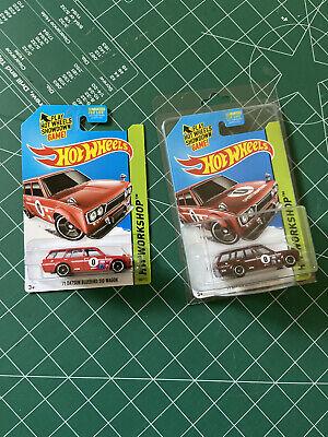 Hot Wheels 2014 SUPER TREASURE HUNT MESH GRILL '71 Datsun Bluebird 510 Wagon Red