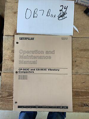 Cat Caterpillar Compactor Cs 563c Cp563c Owner Operation Manual