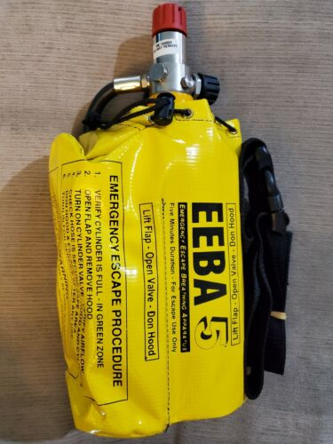 Avon-ISI ~ EEBA Emergency Escape Breathing Apparatus ~ 5 Minute Tank NEW!