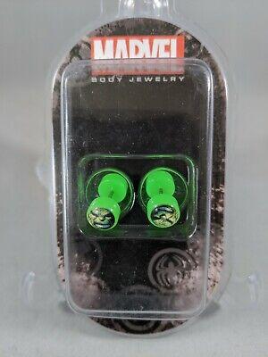 Marvel Hulk Face Green Earrings Ear Stud Official License New in Box Green Stud Earring Box