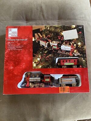 New Home Accents Christmas Tree Train Track Set 9 FT Tree or Floor Mount