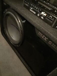 "^** 12"" MTX SUBWOOFER IN MTX BOX WITH MTX AMP!!"