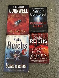 2 Patricia Cornwell & 2 Kathy Reichs novels Cleveland Redland Area Preview