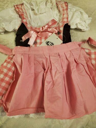 Girls,Kids,US sz 2T,Germany,German,Trachten,Oktoberfest,Dirndl Dress,Pink.3-pc.