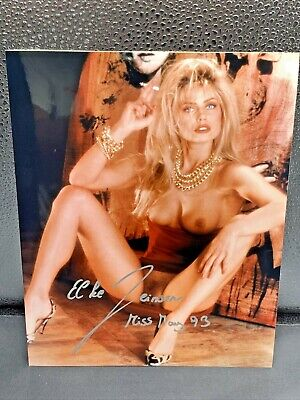 Playboy Playmate Signed 8X10 Photo, Elke Jeinsen Miss May 93