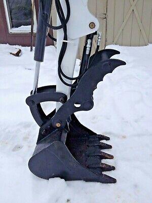 Bobcat Hydraulic Mini Excavator Thumb Pin On Grapple Clamp Claw 325 328 331 334