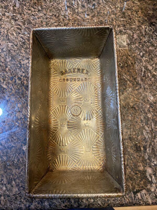 Vintage BAKEREX CROWNWARE Mini Loaf Pan Tin ~ 1950s ~ Bright, Shiny, BEAUTIFUL!