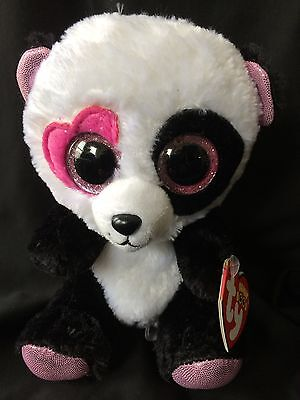 "Ty Beanie Boo Boos Mandy the Panda 6"" NEW MWMT Retired - FREE Shipping!!"