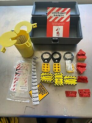 Lockout Safety Toolbox Kit Includes 3 Safety Padlocks New
