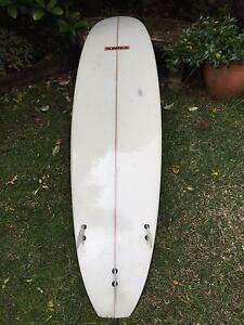 "Sunride Wood Stripe 7'6"" Mini Mal North Balgowlah Manly Area Preview"