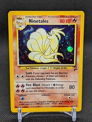 2000 Pokemon Base Set 2 Ninetales Holo 13/130