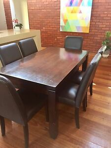 dining table chairs 300 00 negotiable dark wood finish dining table we