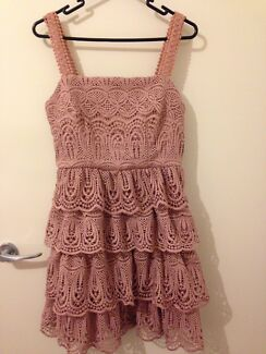 Brand New With Tag - Portmans Very Pretty Lace Dress size 8 in Pink