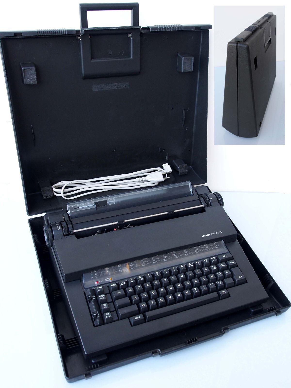 Macchina da scrivere portatile Olivetti Praxis 35 Mario Bellini Typewriter