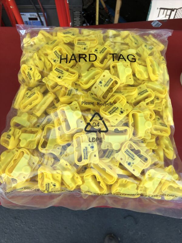 (250) Checkpoint AutoPeg RF YBL 8.2 Retail Security Tags Yellow Checkpoint New