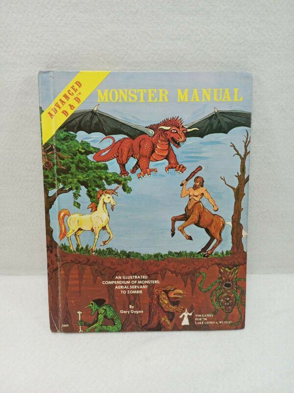 TSR Advanced Dungeons & Dragons Monster Manual 4th ed. 1979, Vintage Good cond
