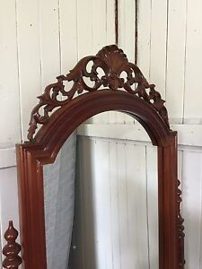 Mahogany  cheval mirror. Rosewood Ipswich City Preview