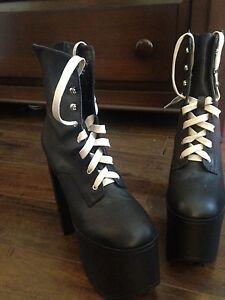 UNIF leather Salem boots