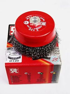 SIT Stainless Steel Rotary Wire Cup Brush Crimp Wheel Made in Italy RRP $53.85