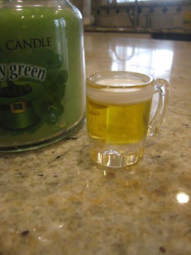 Yankee Candle Beer Mug Saint Patricks Day Candle Charm **EUC