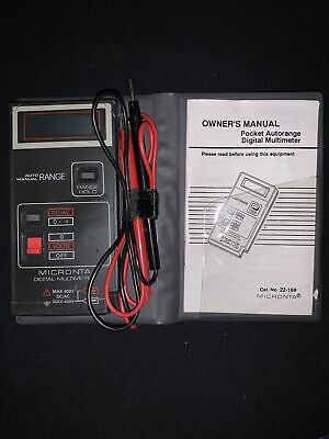 Lcd Digital Auto-manual Ranging Pocket Multimeter Micronta 22-169