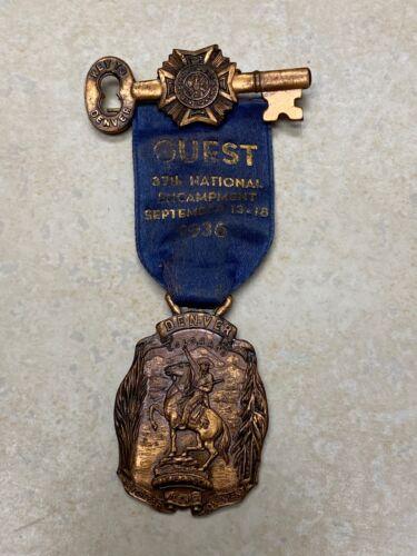 1936 VFW Encampment Denver Colorado Medal