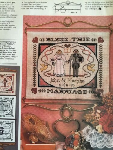 Counted Cross Stitch Pattern - Wedding Sampler - $2.50