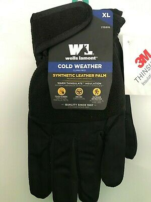 Wells-lamont Cold Weather Synthetic Leather Palm Mens Thinsulate Gloves Xl  A1
